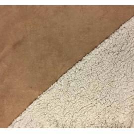 Tissu suédine fausse fourrure - camel