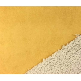 Tissu suédine fausse fourrure - jaune