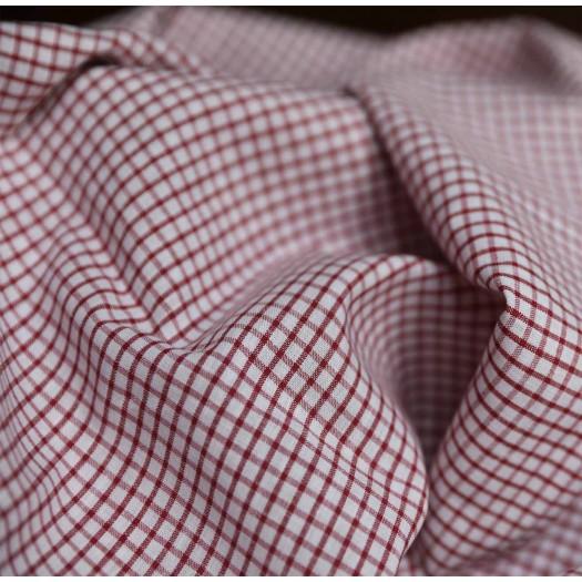 Tissu carreaux - blanc et rouge