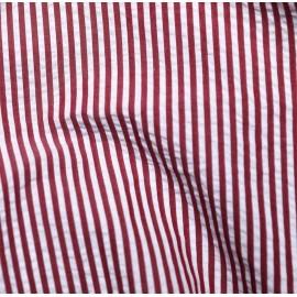 Seersucker rayures blanc et rouge