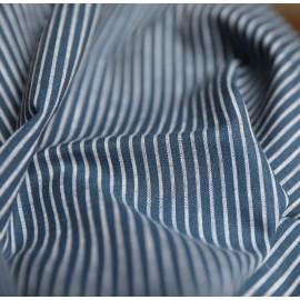 White and blue stripes cotton