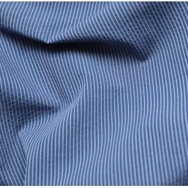 Tissu seersucker à rayures - bleu et blanc