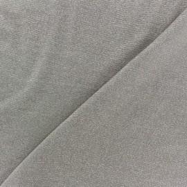 Tissu jersey viscose taupe lurex argent