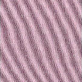 Tissu fines rayures - blanc et rouge