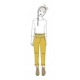 KIT Pantalon enfant Gabie- double gaze jaune