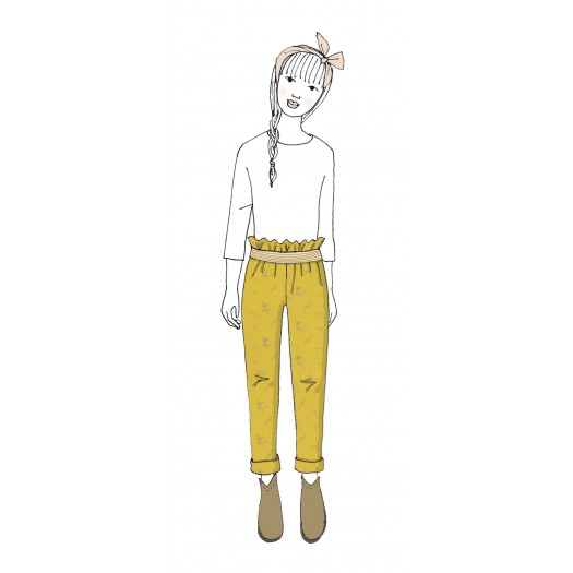 KIT Pantalon enfant Gabie- double gaze jaune