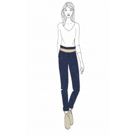 KIT Pantalon femme Gabrielle - jeans léger bleu