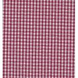 Seersucker carreaux blanc et rouge
