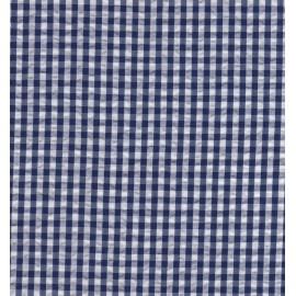 Seersucker carreaux blanc et bleu