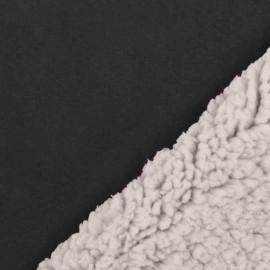 Grey suede astrakhan fur