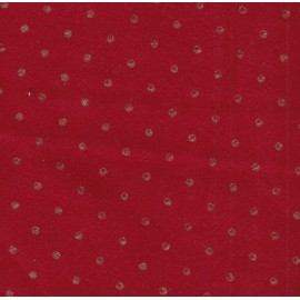 Red with golden dots wool fabric
