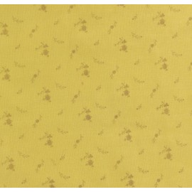 Yellow and golden flowers double gauze fabric