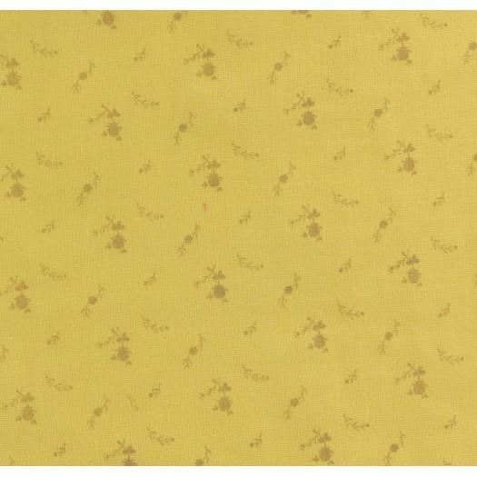 Double gaze fleurs or - jaune
