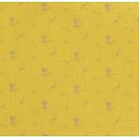 Double gaze fleurs argent - jaune