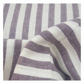 Wide stripes - plum