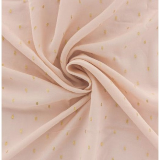 Viscose rose plumetis or
