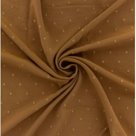 Viscose camel plumetis or