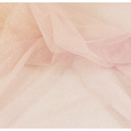 Soft pale pink tulle