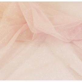 Tissu tulle rose à paillettes souple et doux