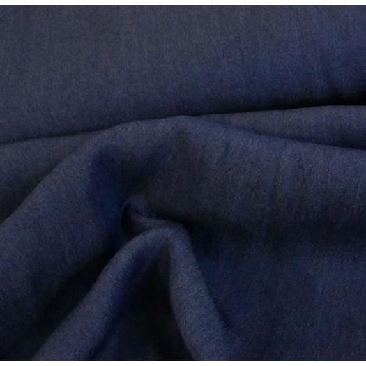 Tissu tencel bleu foncé