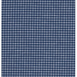 Blue and white checked fabric