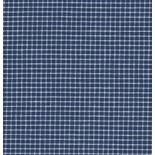 Tissu carreaux blanc et bleu