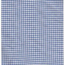 Tissu carreaux - bleu et blanc