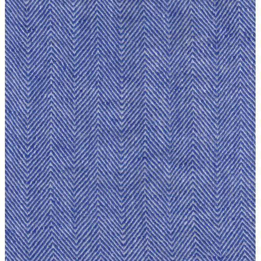 Lin chevron blanc et bleu