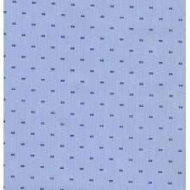 Coton chemise bleu plumetis