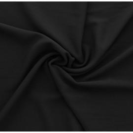 Tissu crêpe viscose noir