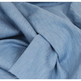 Tissu jeans bleu clair