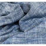 Double gaze lin et coton Bleu