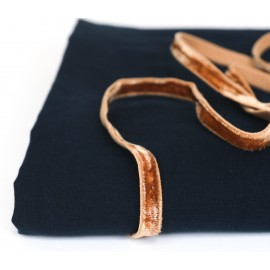 Caramel velvet elastic en 10 mm