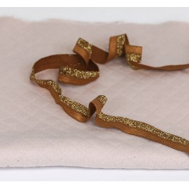 Caramel and gold biais rubber band