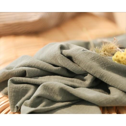 Coton texturé vert de gris