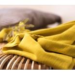 Coton texturé jaune
