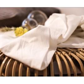 Coton blanc légèrement texturé