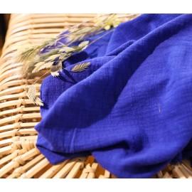 Coton texturé bleu roi