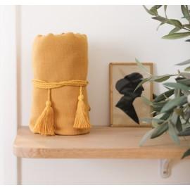 Isadora yellow pompon cord