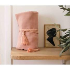 Garnier pink pompon cord