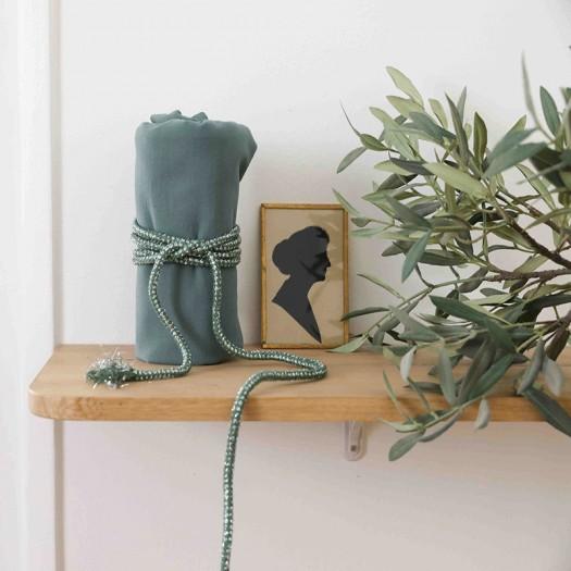 Cordon Lurex Argent Vert Tarantelle