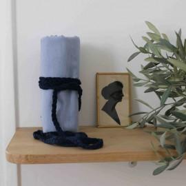 Swan blue flat braided cord