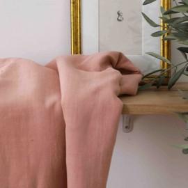Tissu viscose lin rose