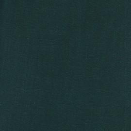 Dark green linen viscose fabric