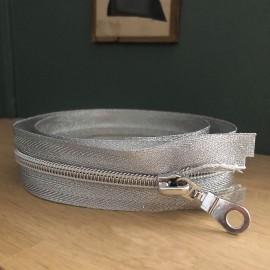 Fermeture à glissiere séparable - Argent 70 cm