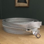Fermeture à glissiere - Argent 70 cm