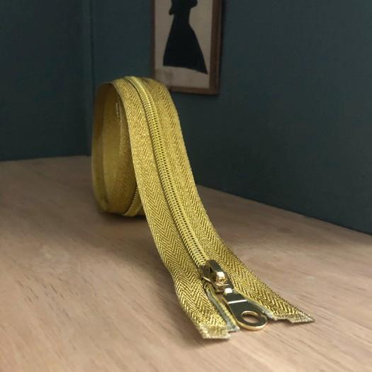 Fermeture à glissiere séparable - Or 70 cm