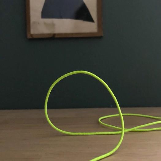 Cordon élastique jaune fluo - 1 mm