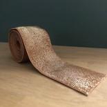 Elastique caramel tout doux et lurex argent en 40 mm