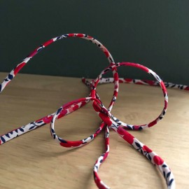 Cordon Liberty Wilshire blanc et rouge